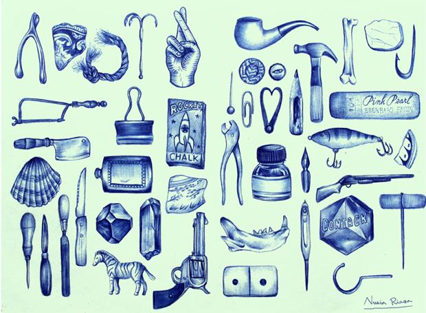 Nuria Riaza, colecciona recuerdos y objetos absurdos