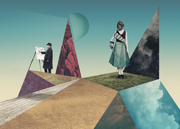 Virtuosity – collage ilustrado por Julien Pacaud – artista invitado en Santander Music 2014