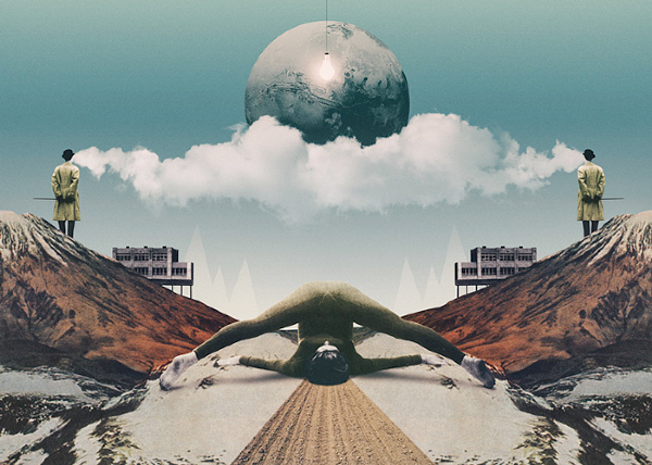Artificial Cloud, collage ilustrado por Julien Pacaud – artista invitado en Santander Music 2014