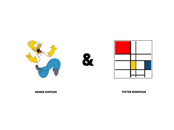 Los Simpson, Mondrian y dos diseñadores bielorrusos