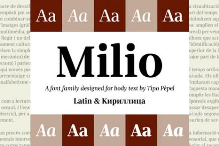 Milio, tipografía de apariencia amable pero contundente