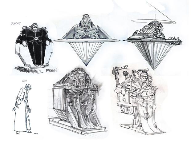 Moebius – bocetos película TRON