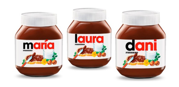 Nutella – packaging personalizado