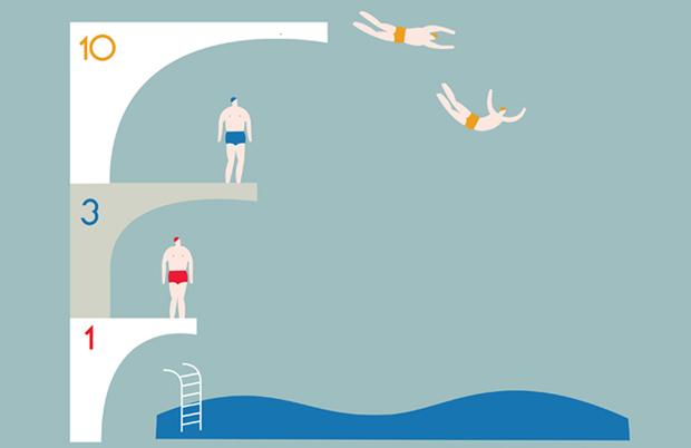 Olimpia Zagnoli – ilustración piscina