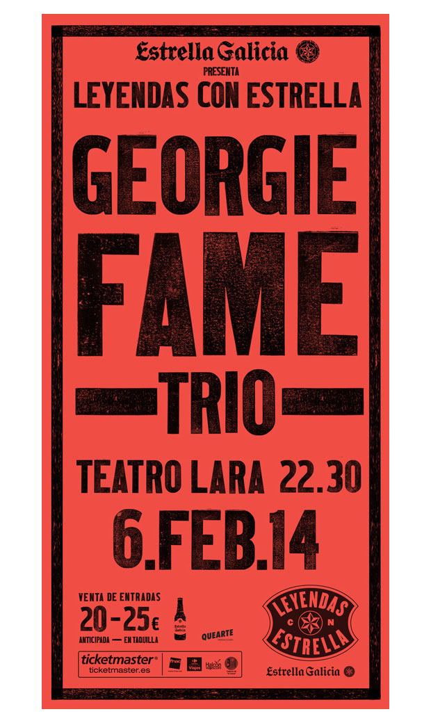 Óscar Mariné – cartel Georgie Fame