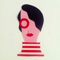 Olimpia Zagnoli - ilustración autorretrato