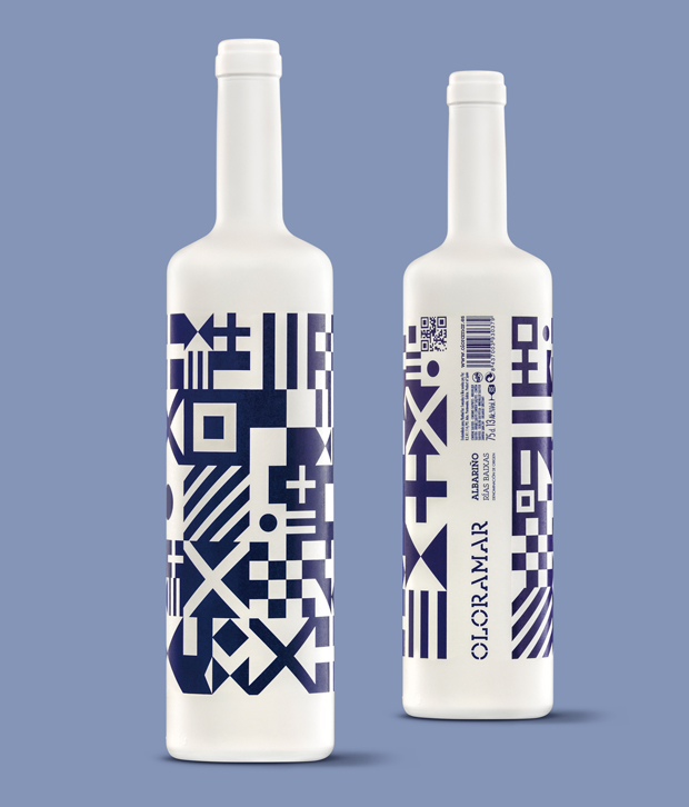 packaging albariño Oloramar diseñadas por Sidecar Design