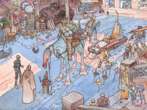 Moebius – ilustración personajes cine