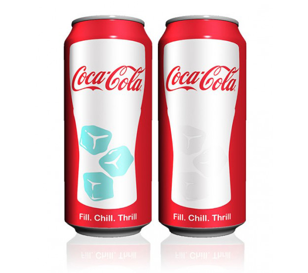 CocaCola – packaging lata cambia según la temperatura