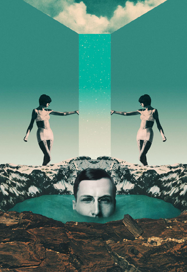 lake of Tears – collage ilustrado por Julien Pacaud