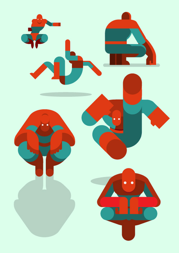 Spiderman ilustrado en flat design