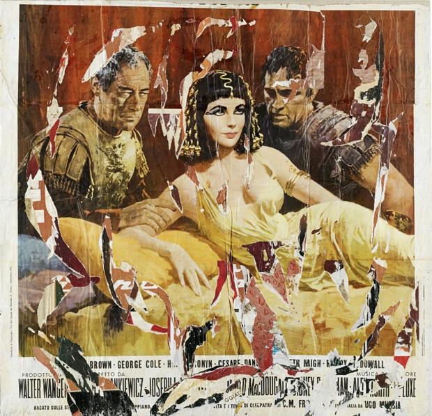 Mimmo Rotella - Cleopatra, 1963
