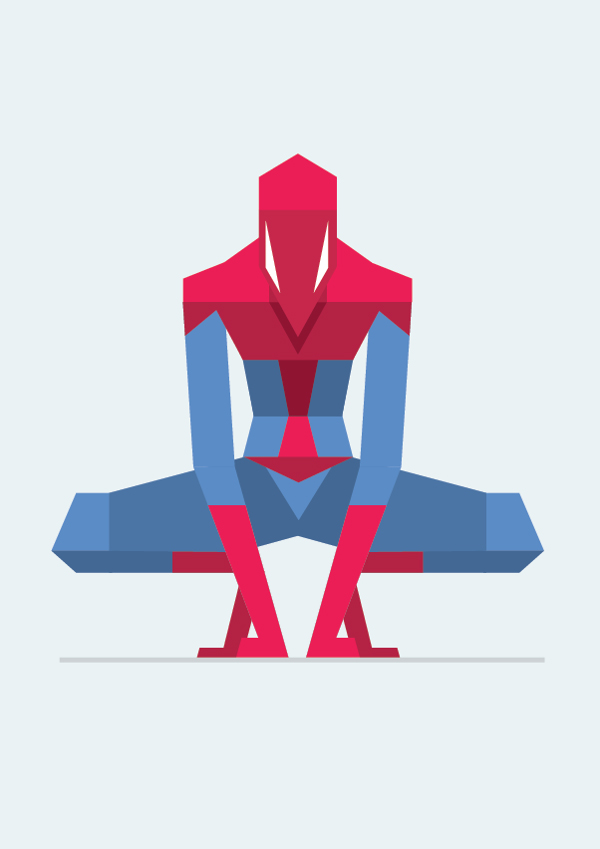 Spiderman en flat design