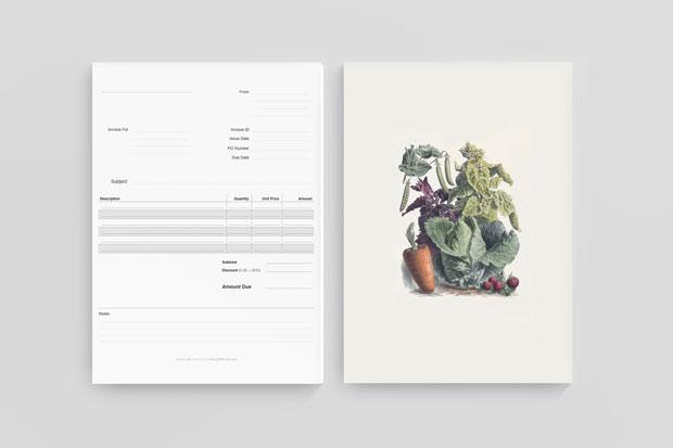 papelería identidad visual de Studio Ahamed Canadá