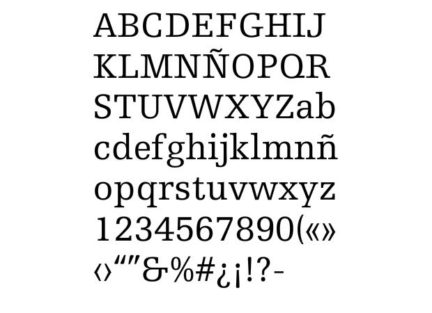 Tipografía Egyptienne de A. Frutiger