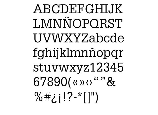 Tipografía Glypha de A. Frutiger
