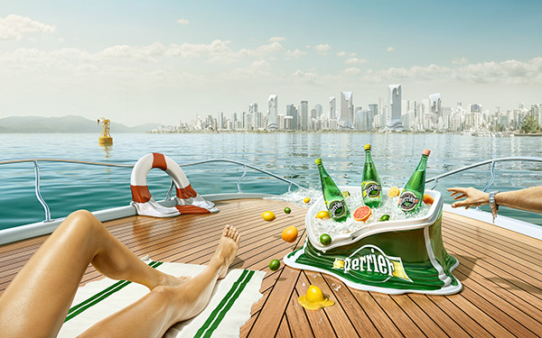 Imagen para la campaña de publicidad de Perrier