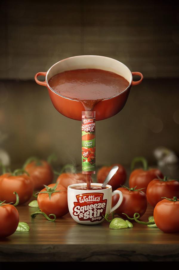 Imagen para la campaña de publicidad de Wattie s Squeeze & Stir