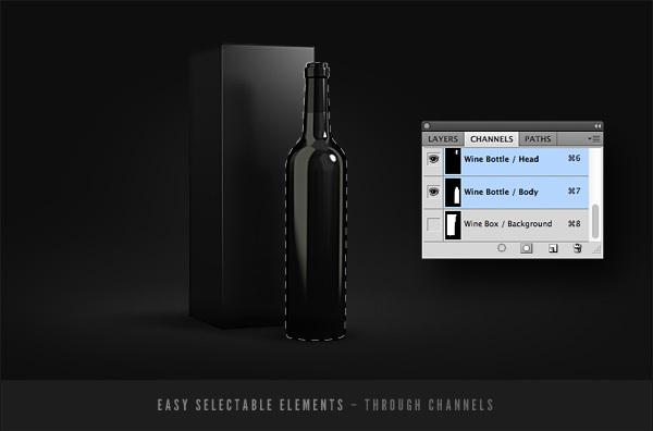 Prototipo de packaging de Botellas de vino