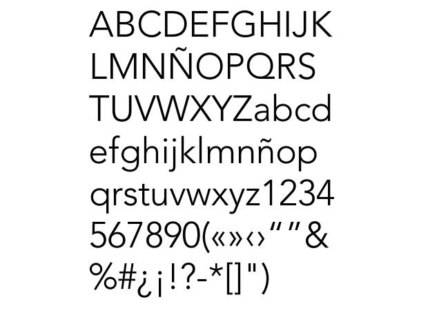 Tipografía Avenir de A. Frutiger
