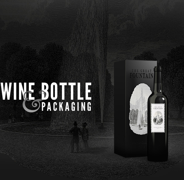 MockUp gratuito de packaging de botellas de vino