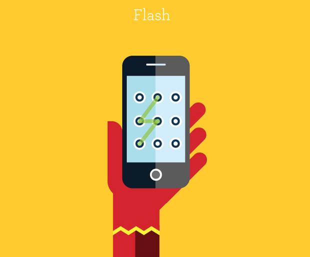 Ilustración de personajes famosos: Flash