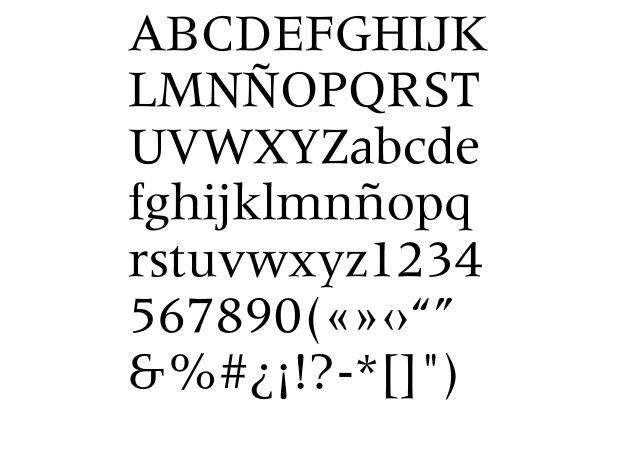 Tipografía Meridien de A. Frutiger