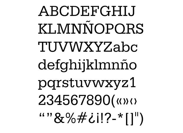 Tipografía Serifa de A. Frutiger