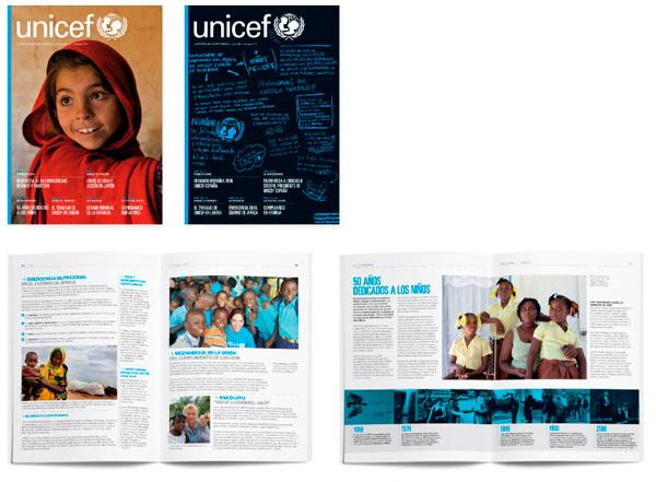 Diseño editorial para Unicef