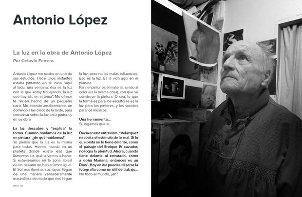 OpticksMagazine – entrevista a Antonio López