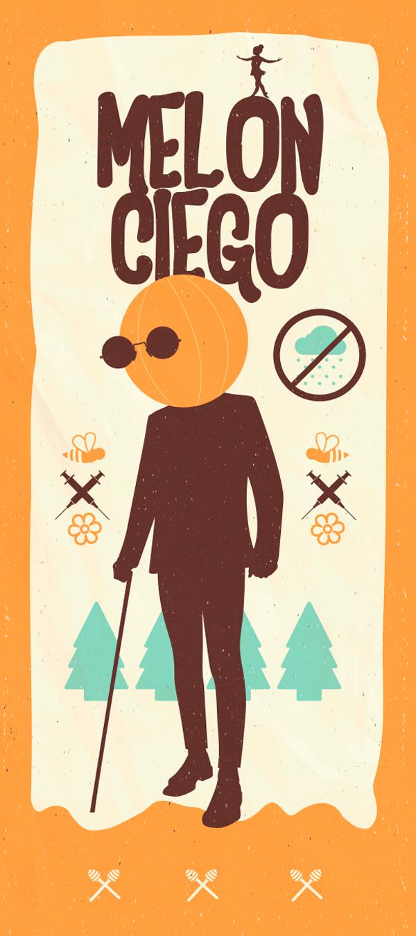 Cartel perteneciente a la serie de bandas de rock ilustradas al español