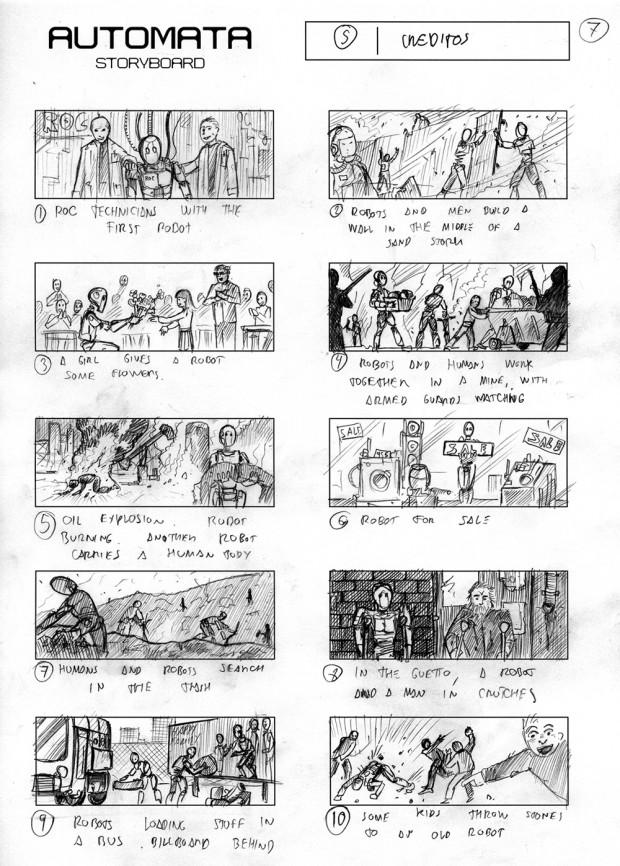 Autómata –  storyboard