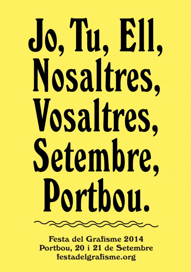 Festa del Grafisme 2014, un cúmulo de experiencias para vivir el diseño