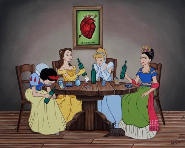 00-Rodolfo-Loaiza_princesses_disney_alcooliques_anonymes