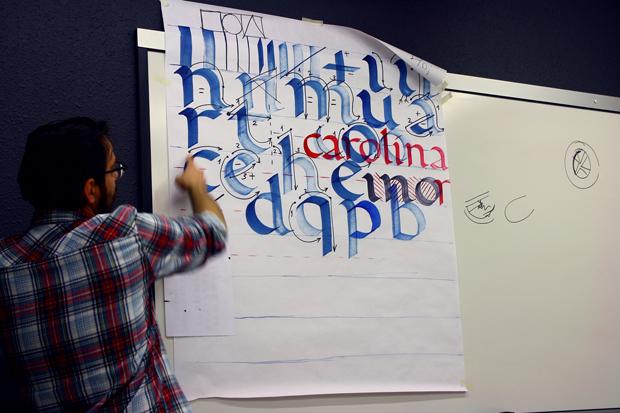 Seeway, formación caligrafía Iván Castro