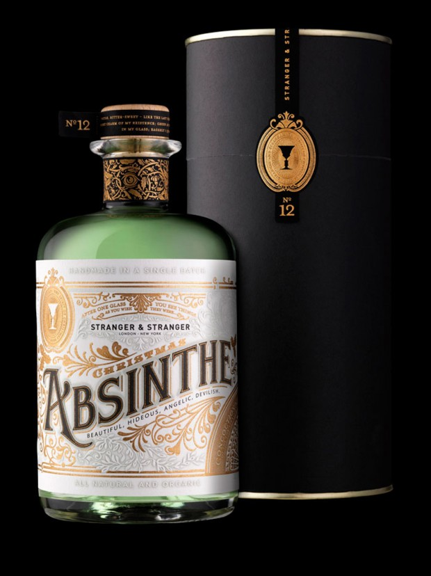 Stranger & Stranger Christmas Absinthe – branding & packaging design