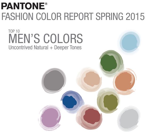 Top 10 colores Pantone para la primavera de 2015 – paleta masculina