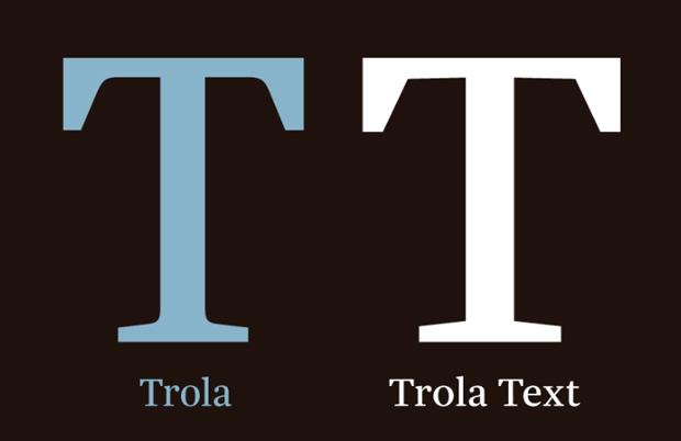 Trola Text – tipografía de Jordi Embodas y Noe Blanco