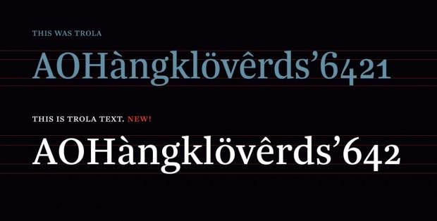 Trola Text, tipografía adaptada cuerpos de texto de gran volumen