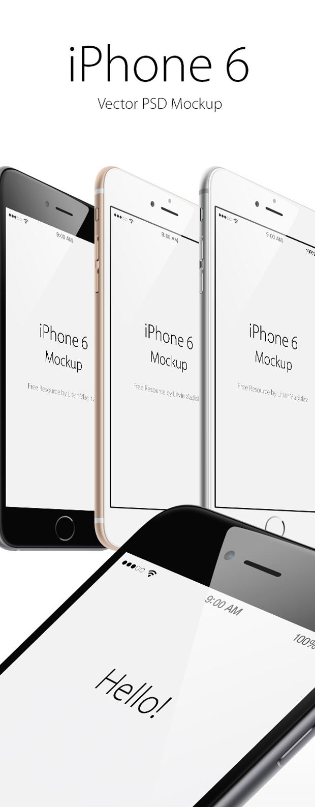 Mockup gratuito de iPhone 6 en PSD