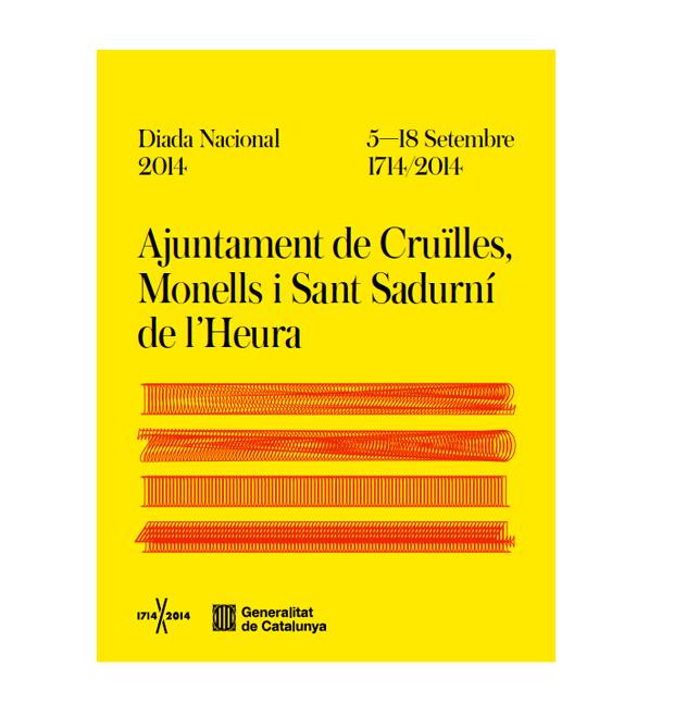 Cartel Diada 2014  diseñado por Mario Eskenazi