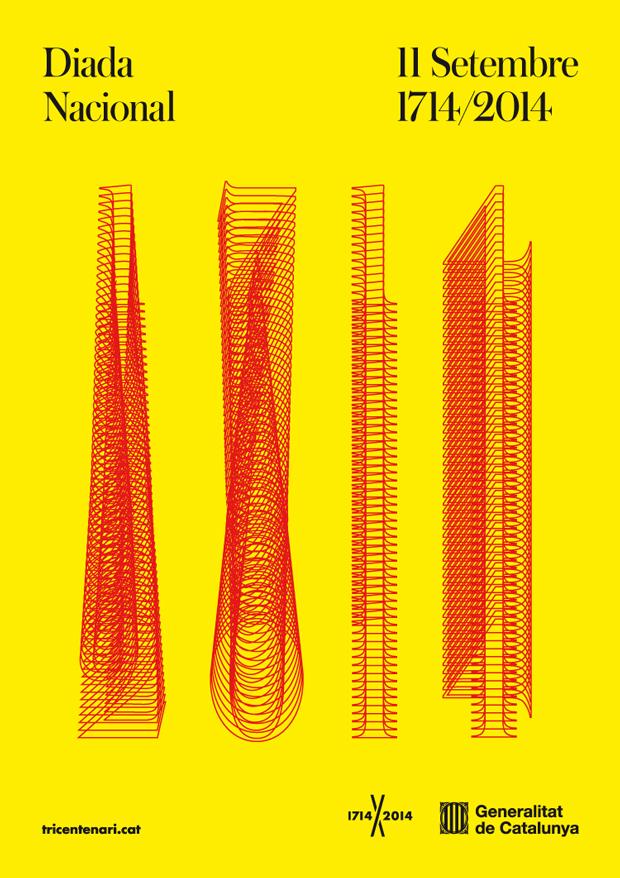 Cartel de la Diada 2014 diseñado por Mario Eskenazi