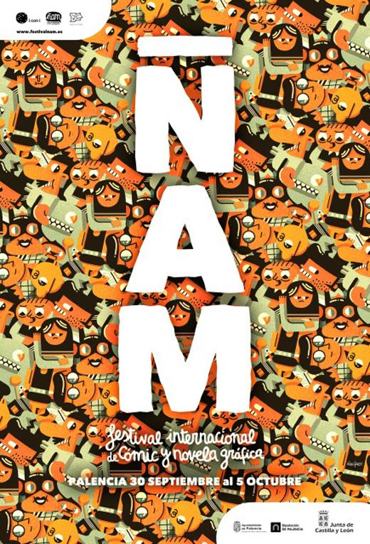 Ñam, cartel del 1r Festival Internacional de Cómic y Novela Gráfica