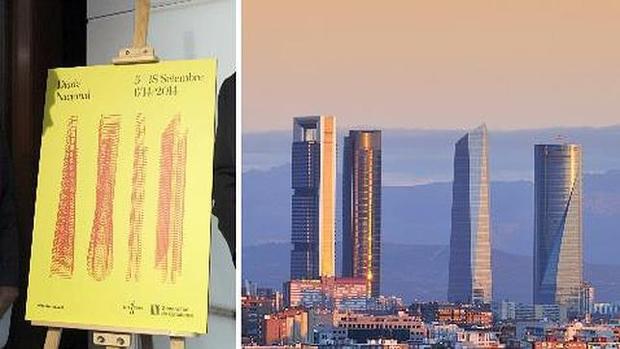 4 torres de Madrid – analogía cartel de la Diada