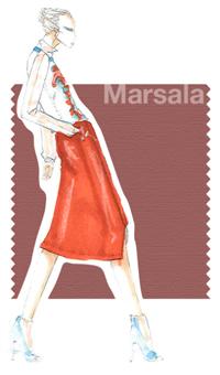 Marsala color – Pantone spring 2015