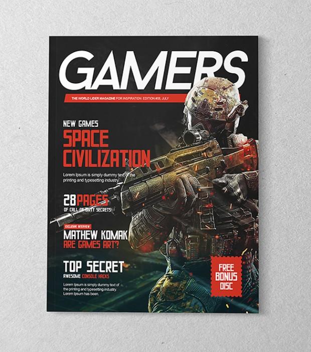 Mockup de diseño de revistas