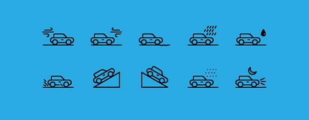iconos de medios de transporte en psd gratuitos