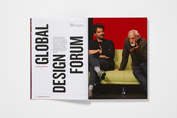 Domenic Lippa, socio de Pentagram, diseña la identidad del London Design Festival 2014