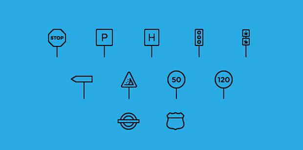 iconos de transporte en psd gratuitos