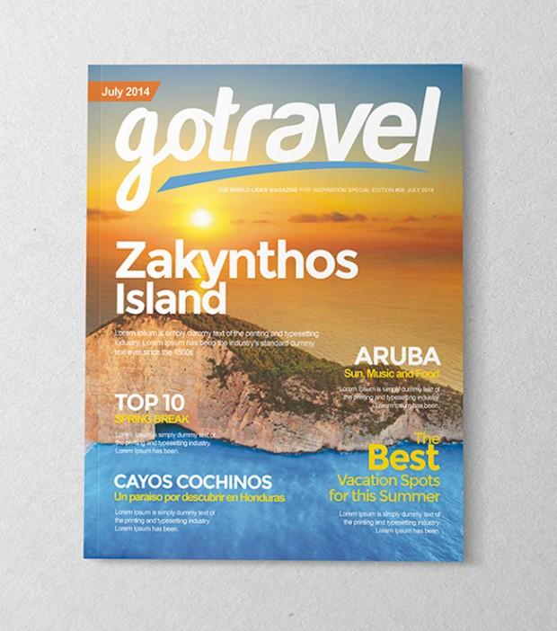 Mockup diseño de revistas – set con 10 portadas en formato PSD